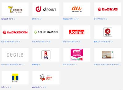OkiDokiポイントのオトク一覧画像