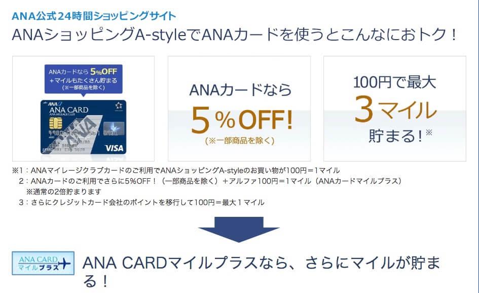 ANA公式24時間ショッピングサイトオトク画像