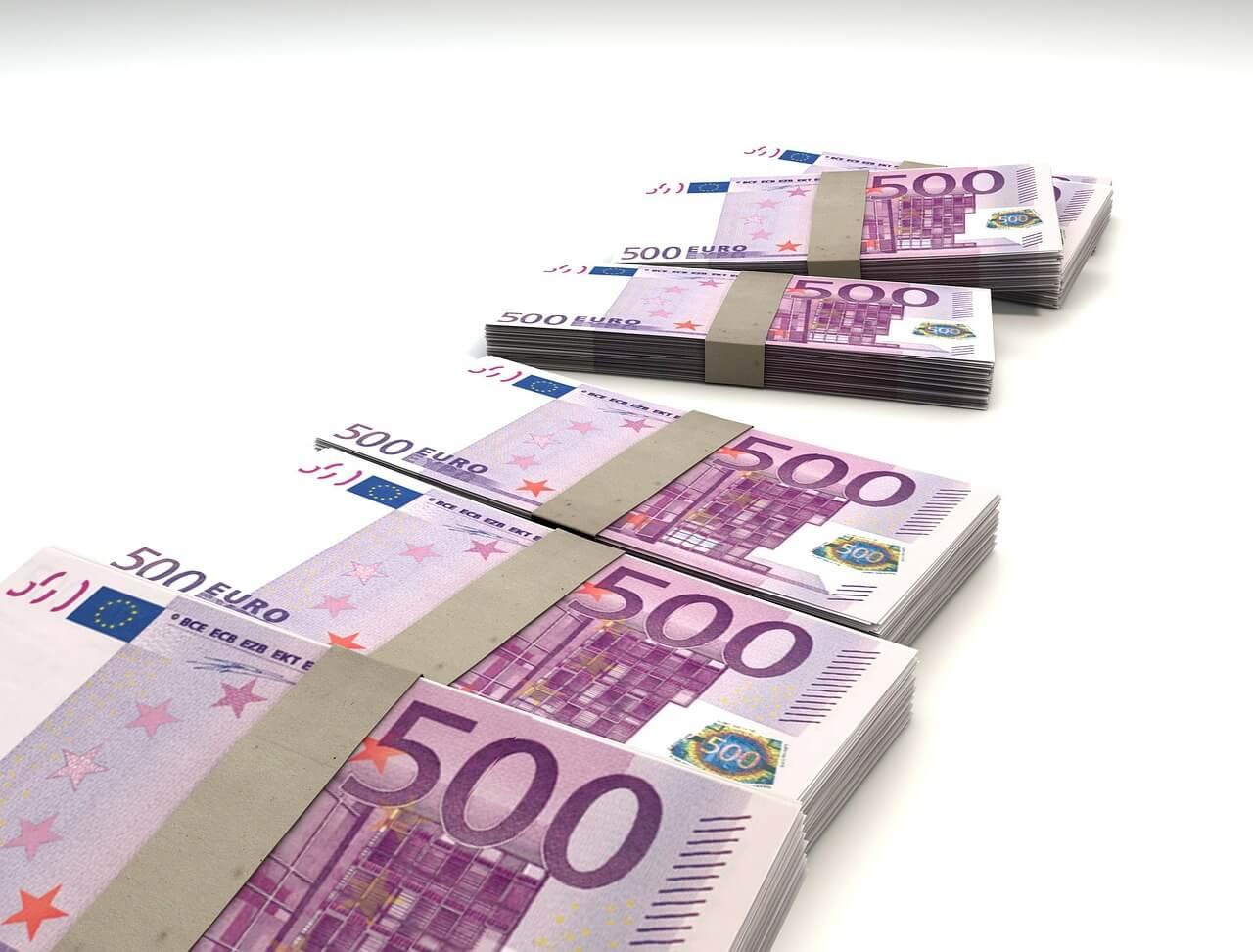 ユーロ札束